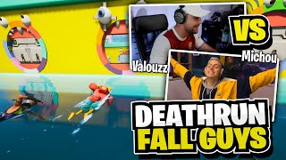 1vs1 contre Michou sur ce Deathrun Fall Guys sur Fortnite Créatif !