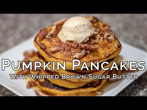 Pumpkin Pancakes with Whipped Brown Sugar Butter