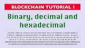 Blockchain tutorial 13 1: Base-58 encoding - YouTube