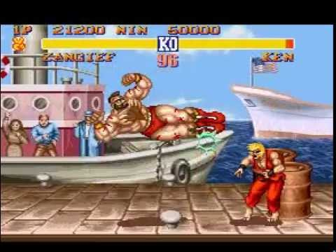 Street Fighter II - The World Warrior (SNES) - Zangief (Hardest)