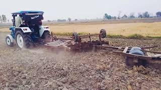 Pulling 2harrow by modify Ford 3600
