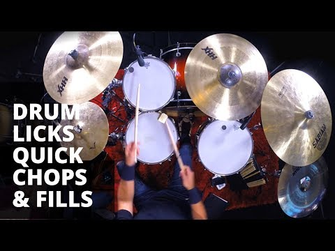 Must Know Drum Licks | Quick Chops & Fills | Triplet, Linear and Fast | Rich Redmond