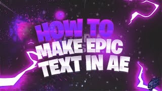 ⭐ [TUTORIAL THURSDAYS] [#1] How To Make EPIC Text In Adobe After Effects ⭐