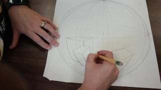 5 point perspective tutorial part 1