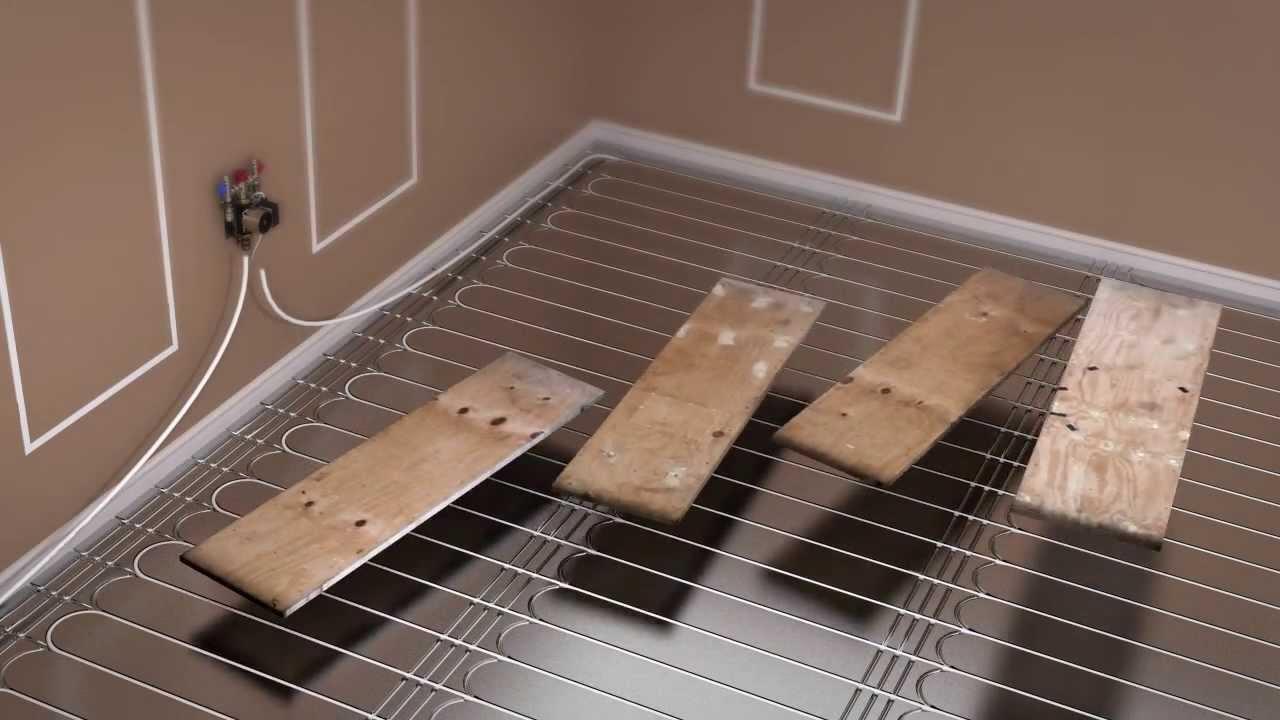 ProWarm Warm water kit installation  floating floor