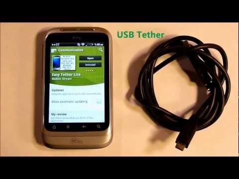 HTC Wildfire S - USB Tether