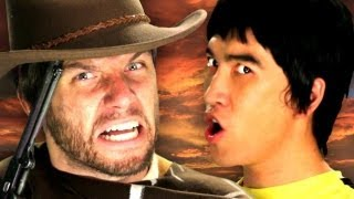 Bruce Lee vs Clint Eastwood - Epic Rap Battles of History Season 2 Remix