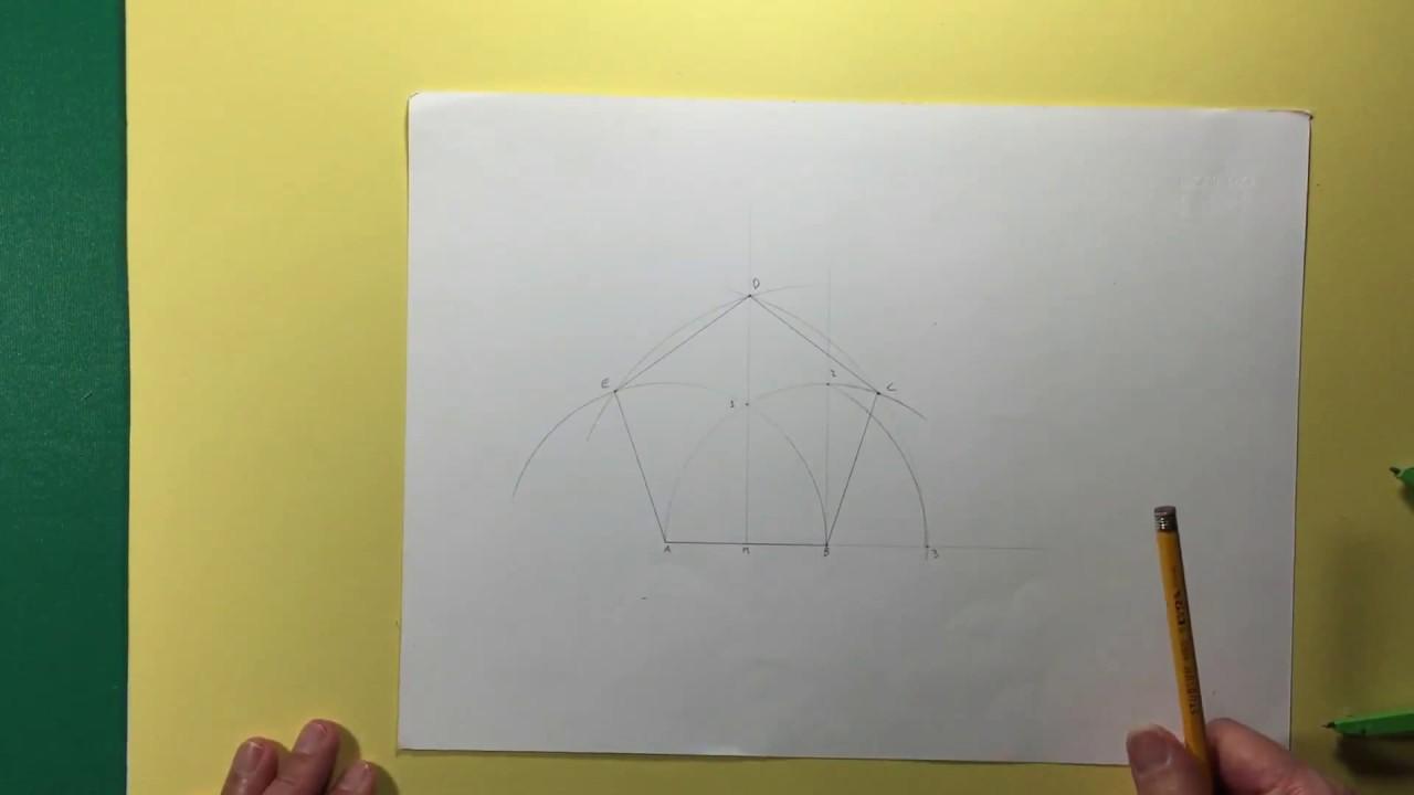 Costruzione veloce di un pentagono regolare dato il lato for Costruzione ottagono dato il lato