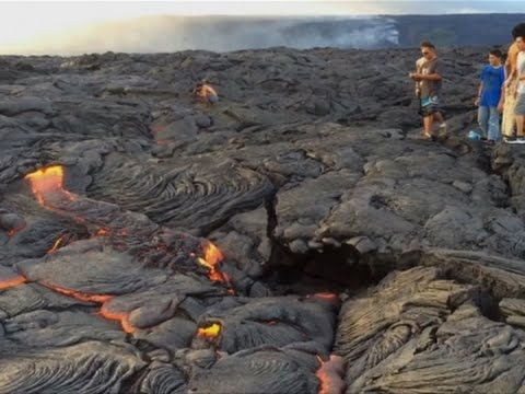 Lava Flowing from Hawaii Volcano Draws Tourists