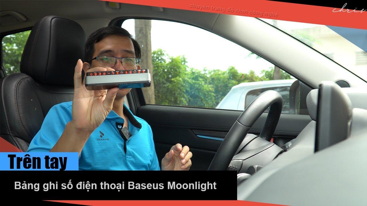 Trên tay bảng ghi số điện thoại trên xe hơi Baseus Moonlight Box series Temporary Parking Plate