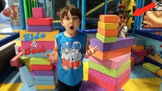 Hide and Seek at the Indoor Playground for kids ! family fun video