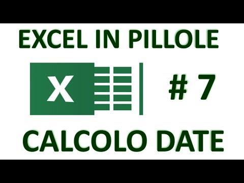 EP7 Formule e funzioni con le DATE di Excel