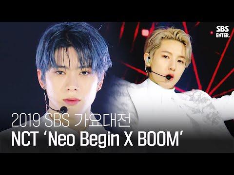 NCT, 화이트 천사 오빠들의 화려한 퍼포먼스 'Neo Begin X BOOM'   2019 SBS 가요대전(2019 SBS K-POP AWARDS)   SBS Enter.