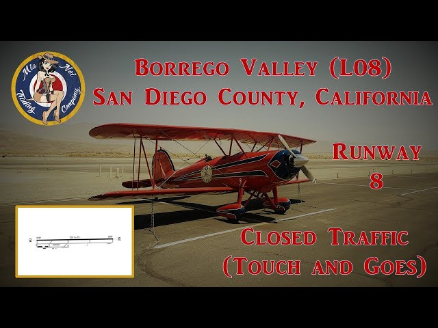 Borrego Valley Airport (L08) closed traffic(touch and goes), San Diego County, California. Mia Noi.