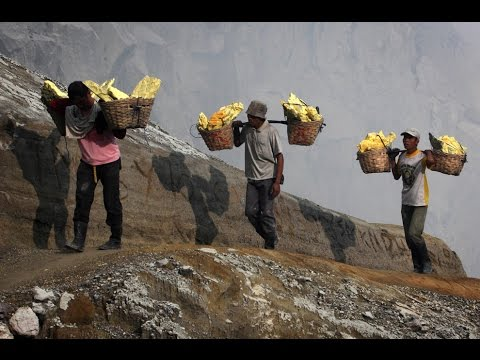 The Sulfur Miners Of Kawah Ijen 'Samsara'