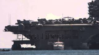 Nuclear aircraft carrier USS George H.W. Bush in Piraeus Greece
