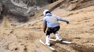 Fac ski fara sa aiba zapada :))