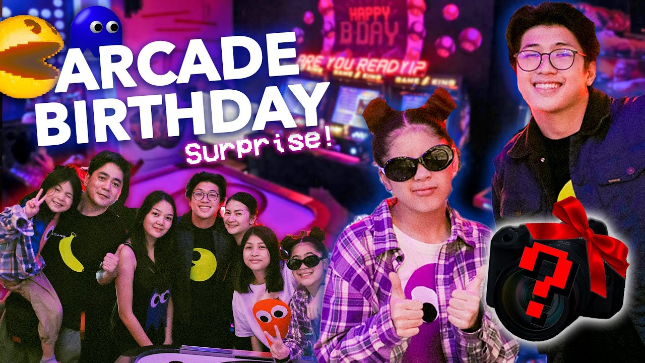 HAPPY BIRTHDAY Bro! Arcade Surprise!! (GRABE To!) | Ranz and Niana