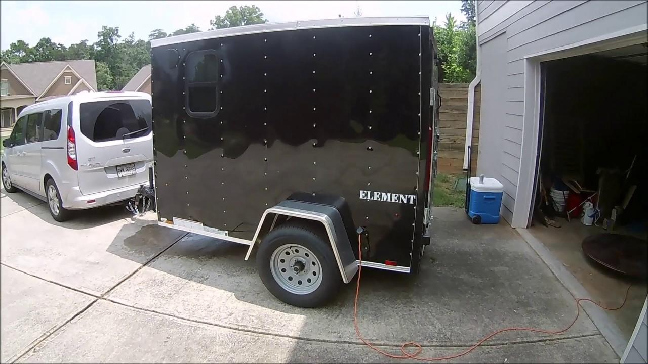 5x8 Cargo trailer conversion to RV final walkthrough
