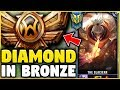 I TOOK MY JAX INTO BRONZE FOR THE FIRST TIME EVER! DIAMOND JAX VS BRONZE ELO! - League of Legends