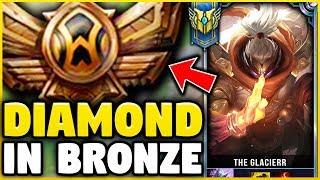 I TOOK MY JAX INTO BRONZE FOR THE FIRST TIME EVER! DIAMOND JAX VS BRONZE ELO! - League of Legends