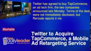Twitter to Acquire TapCommerce, a Mobile Ad Retargeting Service