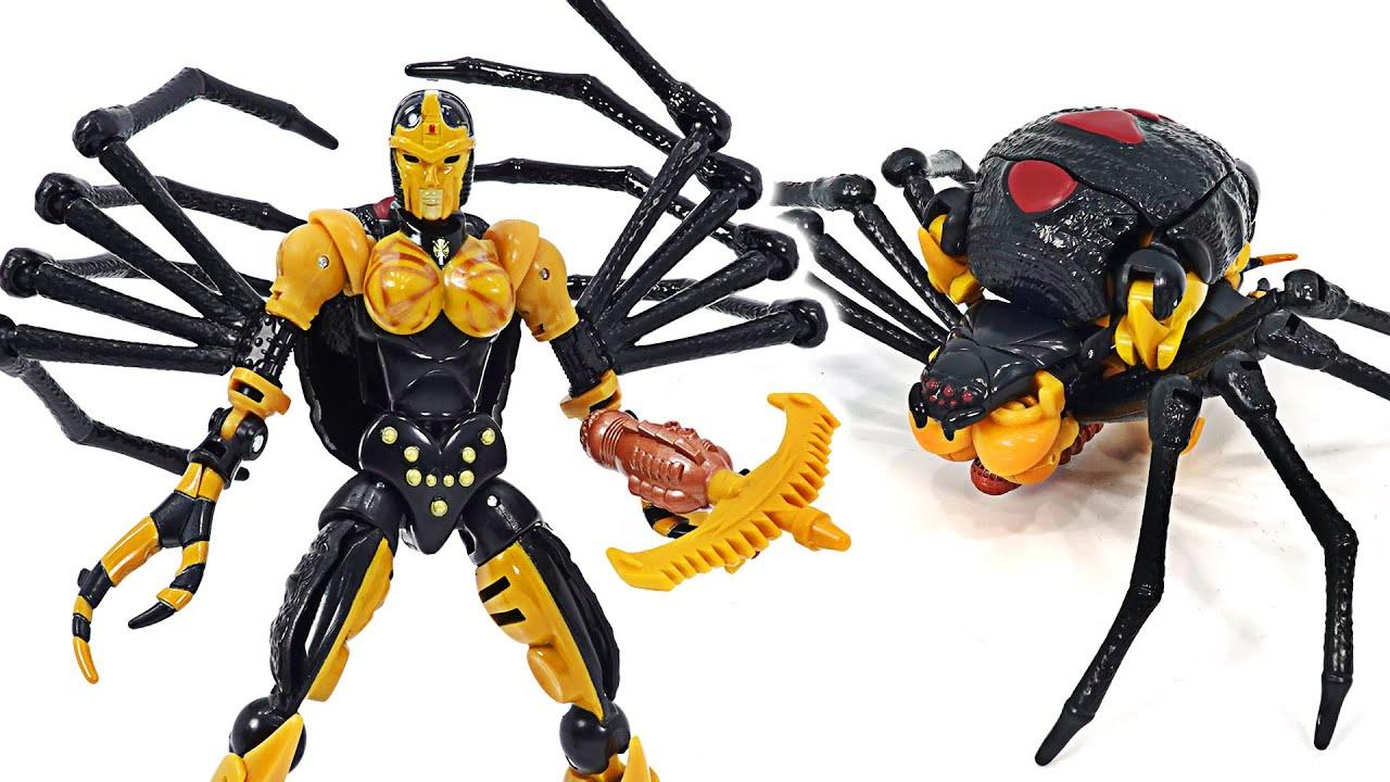 Transformers Kingdom Deluxe Blackarachnia! Transformed into a spider! | DuDuPopTOY