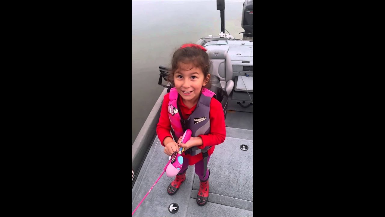 Avery crushes huge bass on barbie pole youtube for Barbie fishing pole