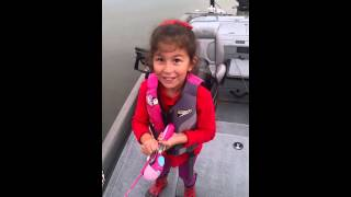 Avery crushes huge bass on barbie pole!