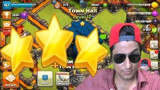 Learning 3 Star Attack on TH12  | COC Live