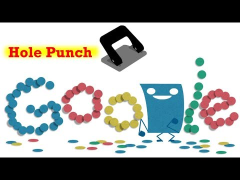 Hole Punch History | Google Doodle. 131st Anniversary of the Hole Puncher