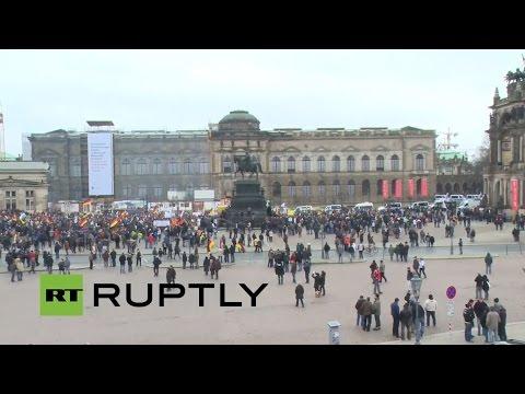 LIVE: Camera overlooking PEGIDA demo in Dresden
