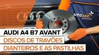Instalação Jogo de reparação da pinça de travão AUDI A4: vídeo manual