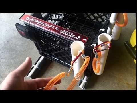 Kayak Fishing Milk Crate Diy Youtube