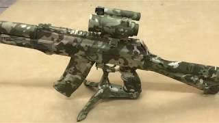 Камуфляжная раскраска оружия, аквапринт автомата (тюнинг). Aquaprint - технология водного трансфера