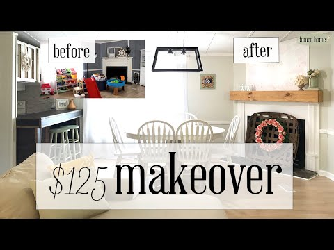 $125 DINING ROOM MAKEOVER