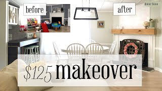 $125 DINING ROOM MAKEOVER