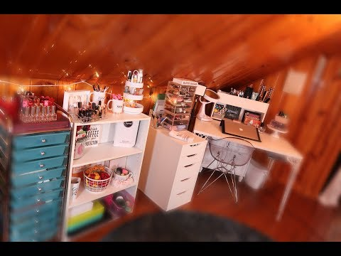 BEAUTY ROOM TOUR 2018    VANITY AND MAKEUP COLLECTION TOUR    MAP BEAUTY