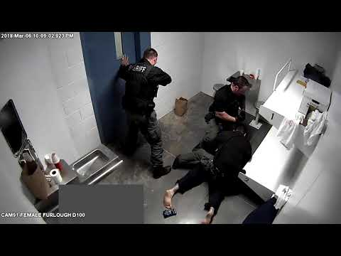 Jail cell video showing confrontation between Sgt. Crandell and inmate Robert Lafler