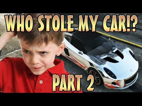 STEALING KIDS CAR WHILE INVISIBLE PART 2! (GTA 5 Funny Trolling)