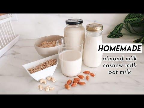 How to Make Almond Milk, Cashew Milk, & Oat Milk ��