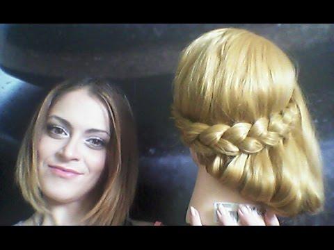 // Tuto coiffure facile style grec // pour cheveux long ...