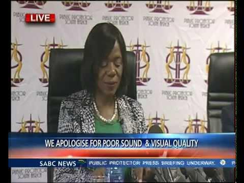 Thuli Madonsela addresses the media on ANC and Nkandla saga