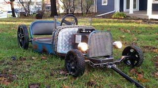 push mower rat rod wagon