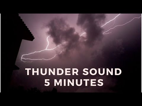 Thunder Sounds No Rain 5 minutes