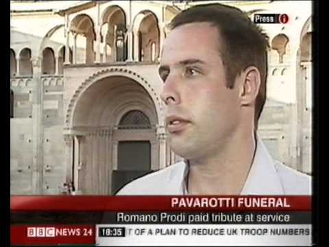 BBC Interview from Pavarotti's Funeral