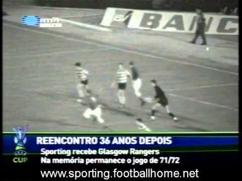 Sporting - 4 x Rangers - 3 (AP) de 1971/1972 Taça das Taças - 2Elim - 2mão
