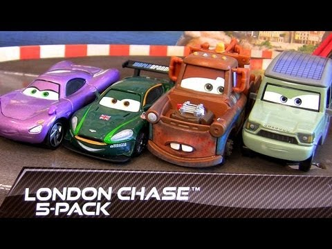 "5-pack Cars 2 London Chase Mater Team Lightning McQueen TRU Toys""R""Us Disney Pixar toys"