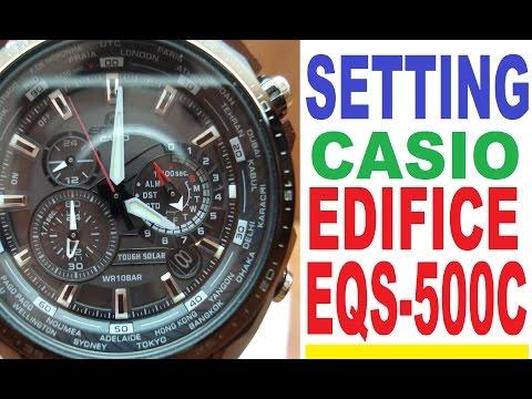инструкция к часам casio edifice eqs-500
