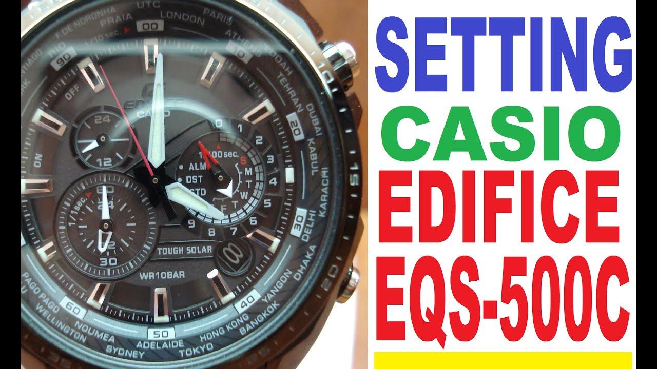 Eqs-500db-1a1 | solar-powered chronograph | edifice | timepieces.